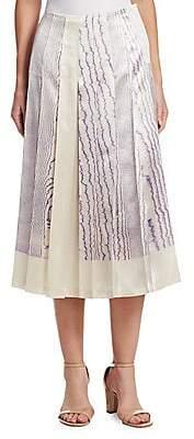 Victoria Beckham Women's Print Pleated Skirt