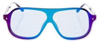 3.1 Phillip Lim Oversize Mirror Sunglasses