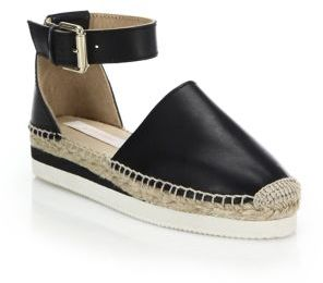 See by Chloe Glyn Suede Ankle-Strap Platform Espadrilles $195 thestylecure.com