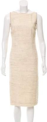 Luisa Beccaria Tweed Velvet-Trimmed Dress