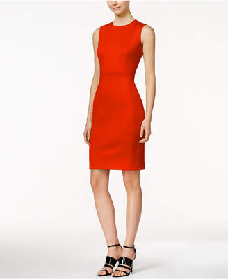Calvin Klein Scuba Crepe Sheath Dress $89.98 thestylecure.com