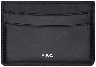 A.P.C. Navy André Card Holder $110 thestylecure.com