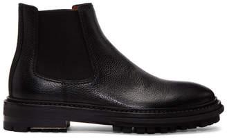 Lanvin Black Grained Leather Chelsea Boots