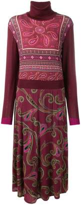 Etro paisley pattern knitted dress