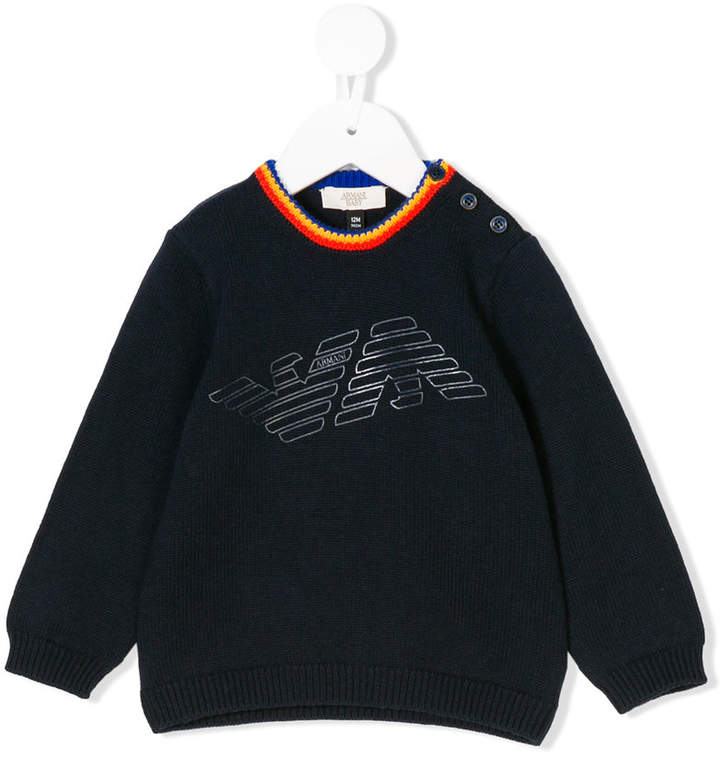 branded knit sweater