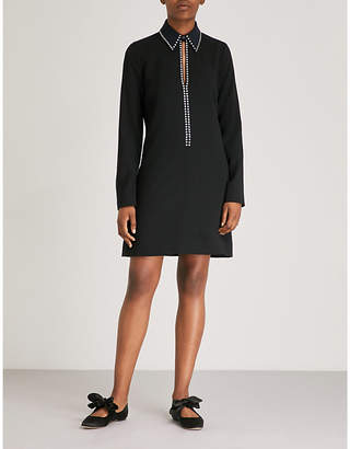 Victoria Beckham Victoria Crystal-embellished crepe dress