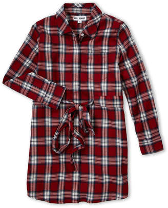 DL1961 Girls 7-16) Plaid Long Sleeve Shirtdress
