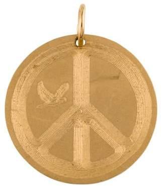 Emily and Ashley 14K Peace Sign Pendant