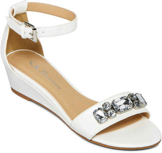 CL BY LAUNDRY CL by Laundry Katherine Ankle-Strap Wedge Sandals $55 thestylecure.com