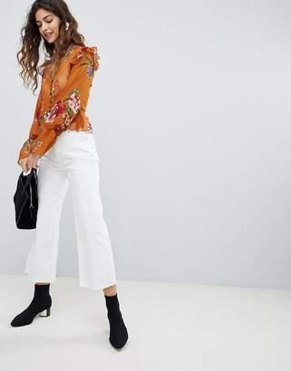 Miss Selfridge Wide Leg Cropped Jeans
