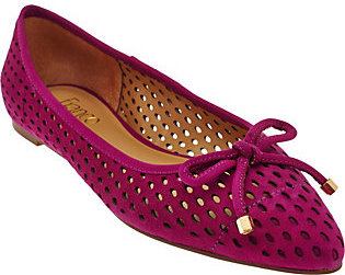 As Is Franco Sarto Suede Perforated Ballet Flats - Shari $27 thestylecure.com