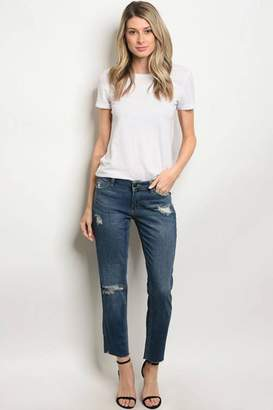 Just USA Distressed Skinny Jean