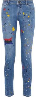 Alice + Olivia Alice+olivia Printed High-Rise Skinny Jeans