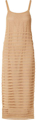 Elizabeth and James Edna Crocheted Cotton Maxi Dress - Sand
