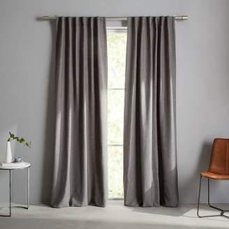 west elm Crossweave Curtain - Charcoal
