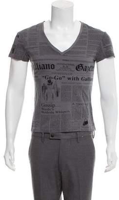John Galliano Newspaper Print T-Shirt