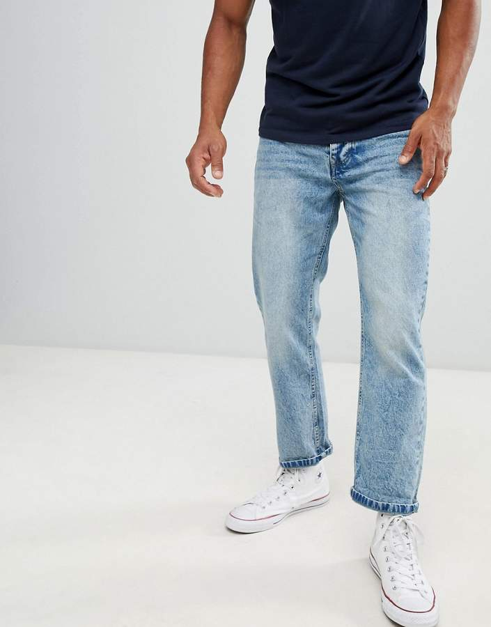 Brave Soul Loose Fit Vintage Wash Jeans