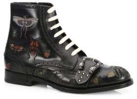 Gucci Queercore Insects Leather Boots