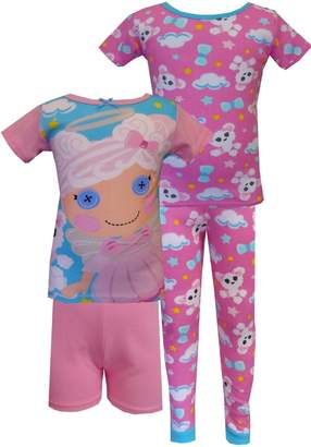 AME Sleepwear Lalaloopsy Cloud E. Sky & Puffy Poodle 4 Piece PJ Set for Big Girls