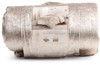 Crushed Velvet Comforter Set