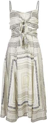 Derek Lam printed front fastened dress