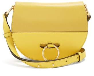 J.W.Anderson Latch Halfmoon Leather Cross Body Bag - Womens - Yellow
