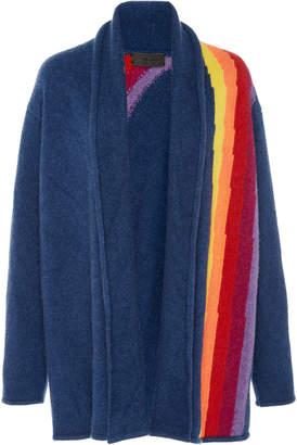 The Elder Statesman Italy Intarsia Cashmere Smoking Jacket