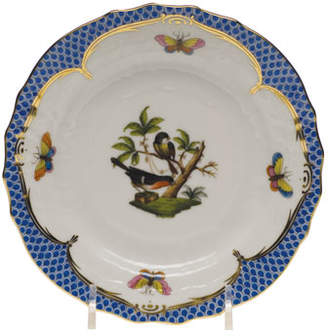 Herend Rothschild Bird Blue Border Bread & Butter Plate 1