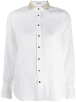 Brunello Cucinelli sequinned collar shirt
