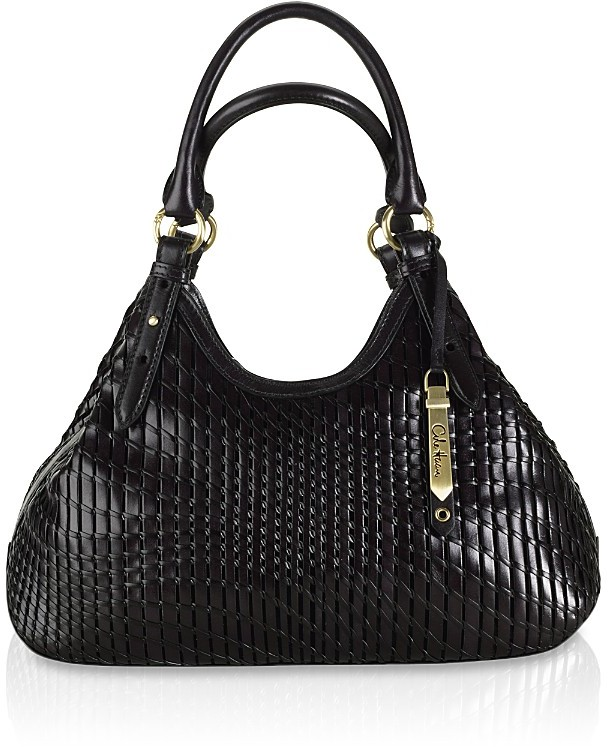 Cole Haan Eve Woven Leather Triangle Tote