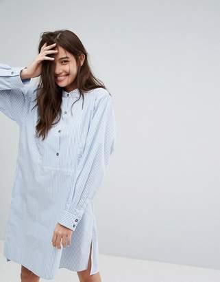 Paul & Joe Sister Button Front Pinstripe Shirt Dress