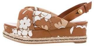 Chloé Floral Print Platform Sandals w/ Tags