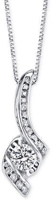 Sirena Diamond Pendant Necklace (3/8 ct. t.w.) in 14k White Gold