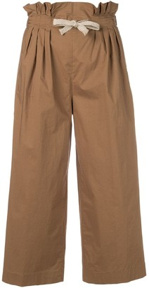 Dondup cropped paperbag trousers