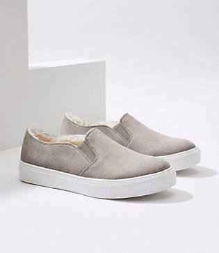 LOFT Faux Fur Lined Slip On Sneakers