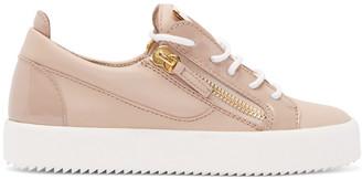 Giuseppe Zanotti Pink London Sneakers $650 thestylecure.com