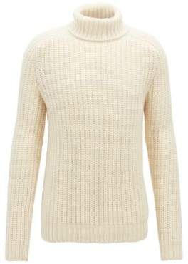 BOSS Hugo Fashion Show Capsule turtleneck sweater in cashmere L Natural