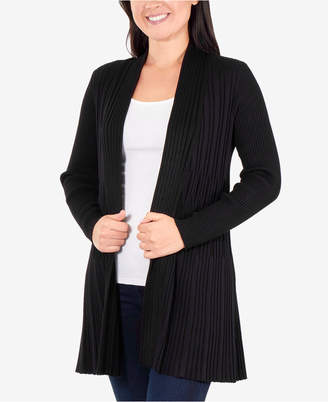 NY Collection Multi-Textured Cardigan