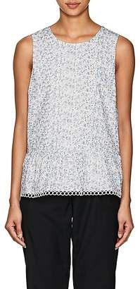 Barneys New York WOMEN'S FLORAL CREPE SLEEVELESS BLOUSE