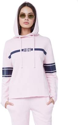 Juicy Couture Jxjc Center Stripe Hooded Pullover