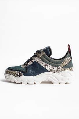 Zadig & Voltaire Blaze Lurex Sneakers