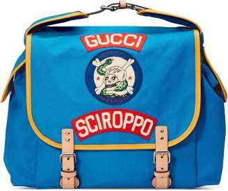 b746cfc4b86 Gucci Children's canvas backpack with patches