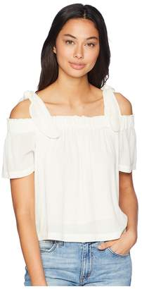 1 STATE 1.STATE Off Shoulder Blouse with Tie Strap Women's Blouse