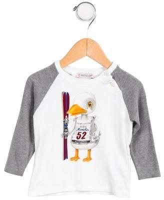 Moncler Boys' Graphic Long Sleeve Shirt
