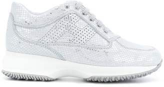 Hogan snakeskin effect sneakers