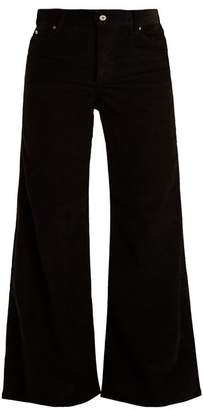 Eve Denim - Charlotte High Rise Wide Leg Corduroy Trousers - Womens - Black