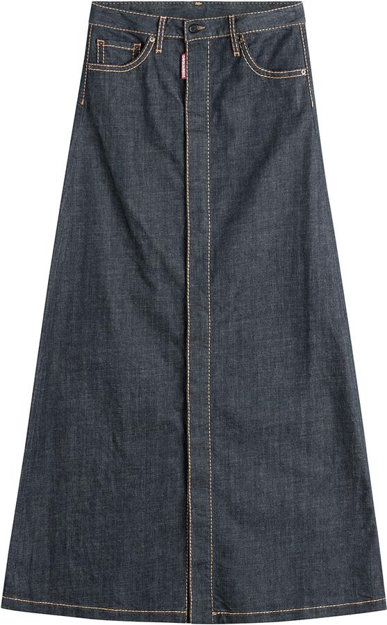 dsquared2 denim maxi skirt shopstyle co uk
