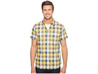 The North Face Short Sleeve Road Trip Shirt (Falcon Brown Plaid