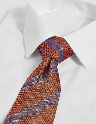 Marks and Spencer Pure Silk Textured Stripe Tie