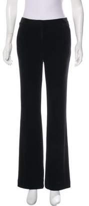 Calvin Klein Velour Mid-Rise Wide-Leg Pants